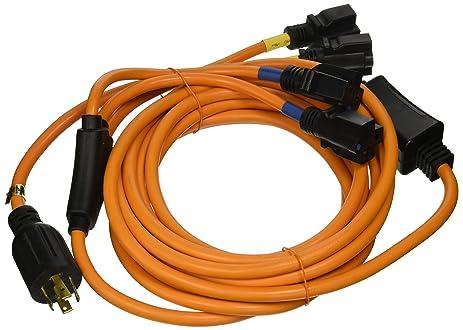 Amazon.com: Ceptics 25 Feet 30-Amp Four Outlet Convenience Cord ...