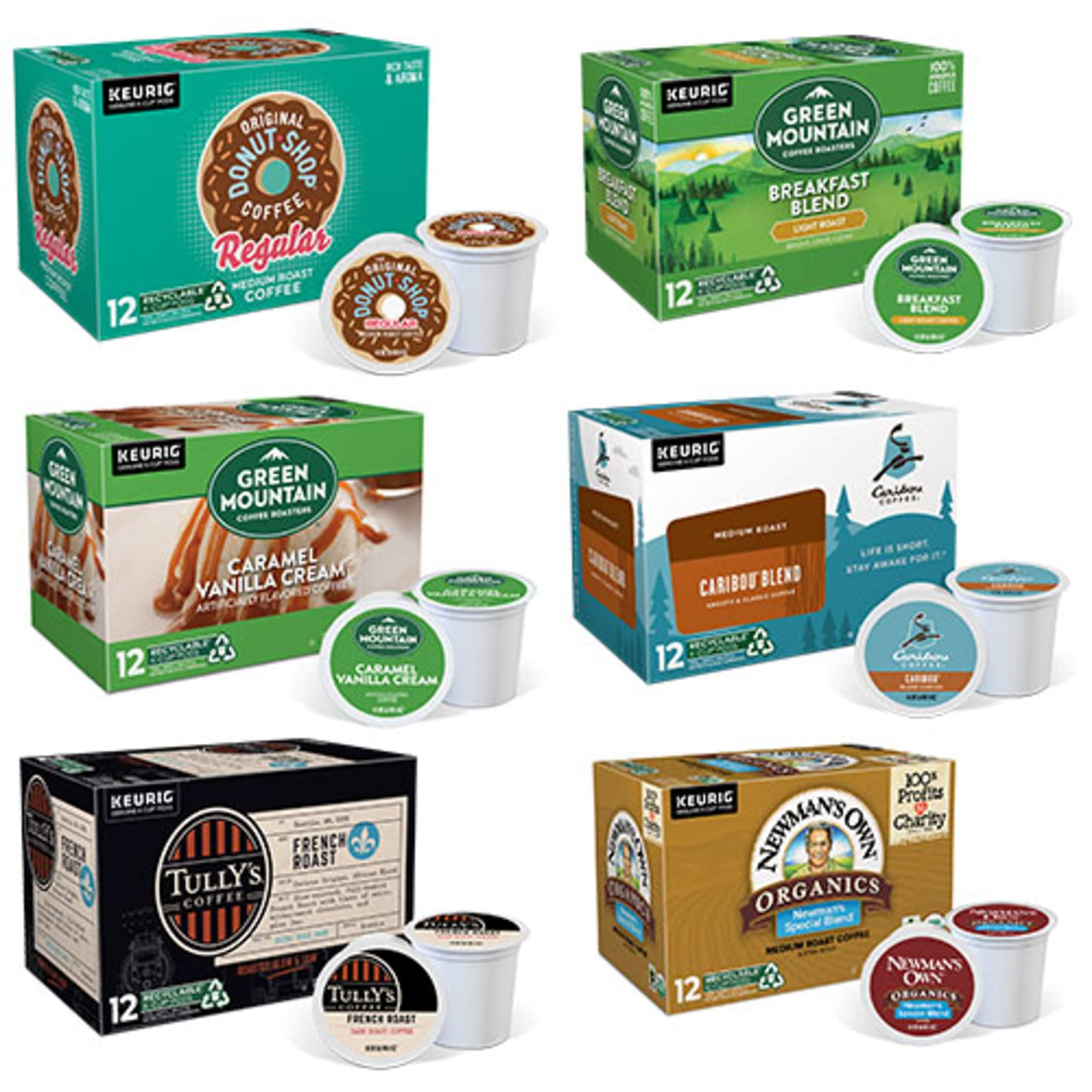 Keurig K-Cup Pod Variety Pack, Single-Serve Coffee K-Cup Pods, Amazon Exclusive, 72 Count