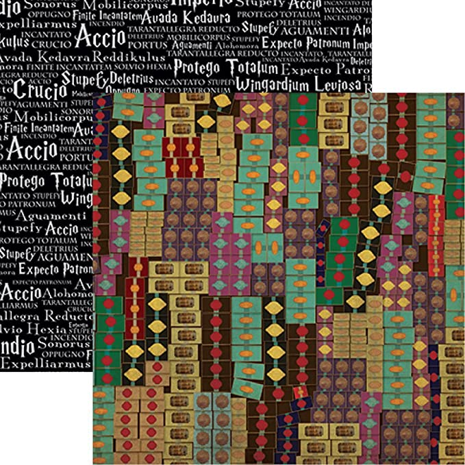 5 Sheets 12x12 In the Movies Universal Studios Worlds of Adventure Scrapbook Paper