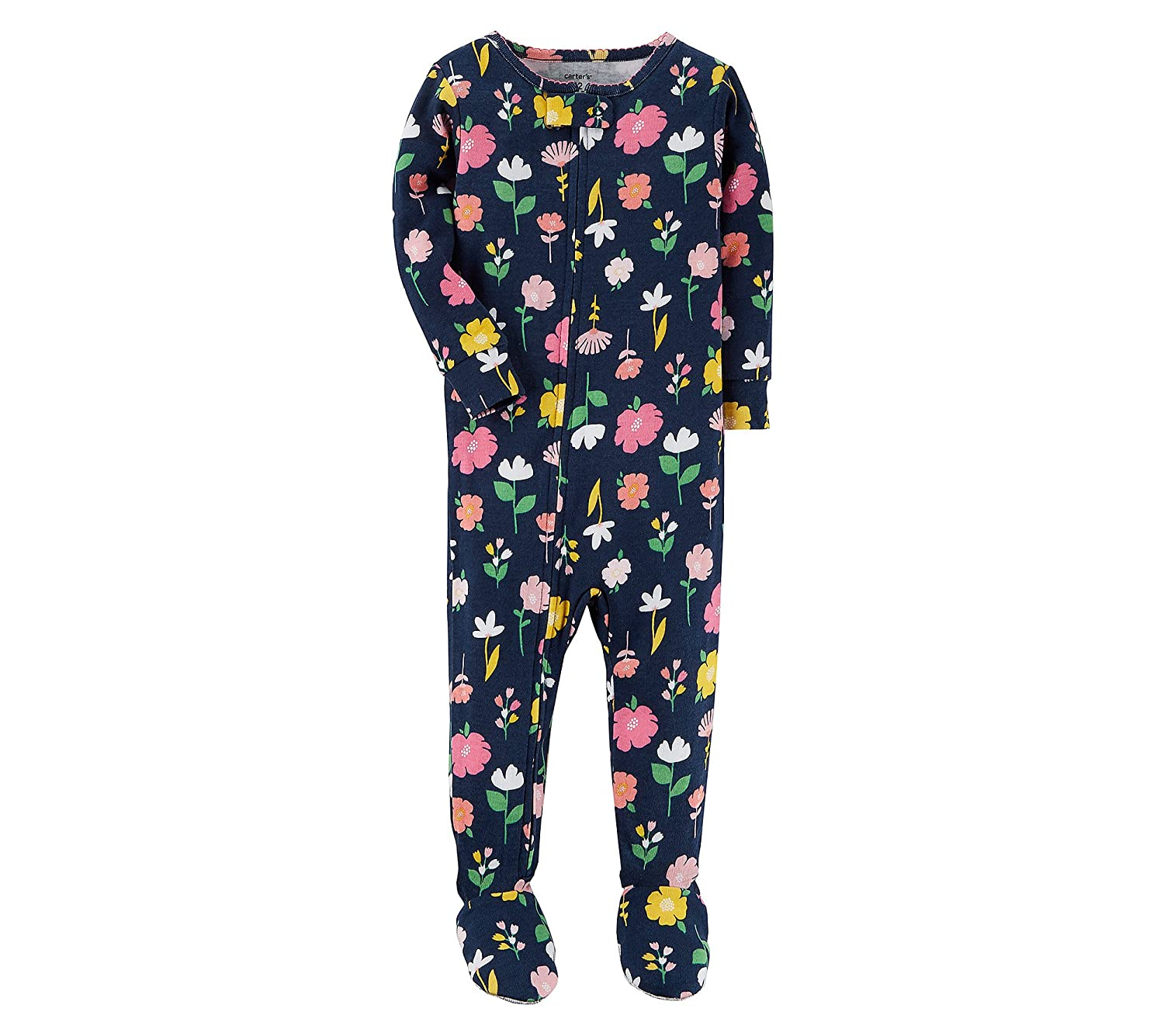 Amazon.com  Carter s Baby Girls  12M-4T One Piece Flower Pajamas 12 Months   Clothing bb44743fb