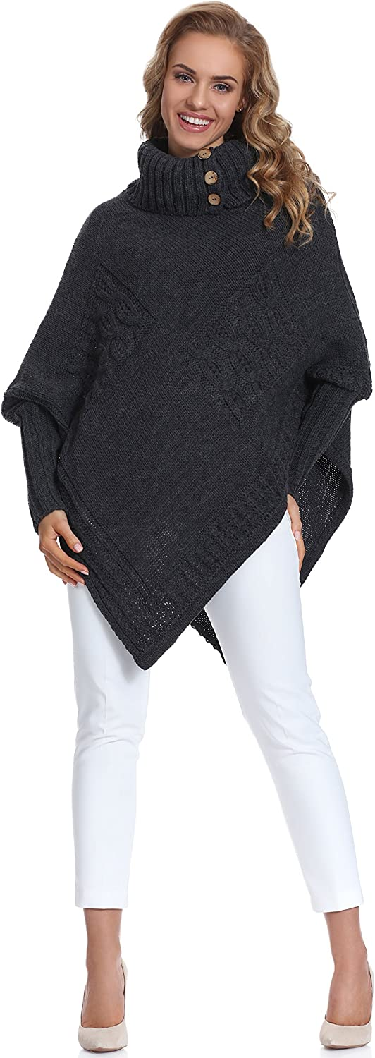 Merry Style Poncho Ropa Mujer Moena