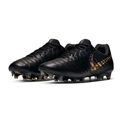 new product aaeb4 ae8a4 Amazon.com | Nike Legend 7 Elite FG Black/MTLC Vivid Gold (Men's ...