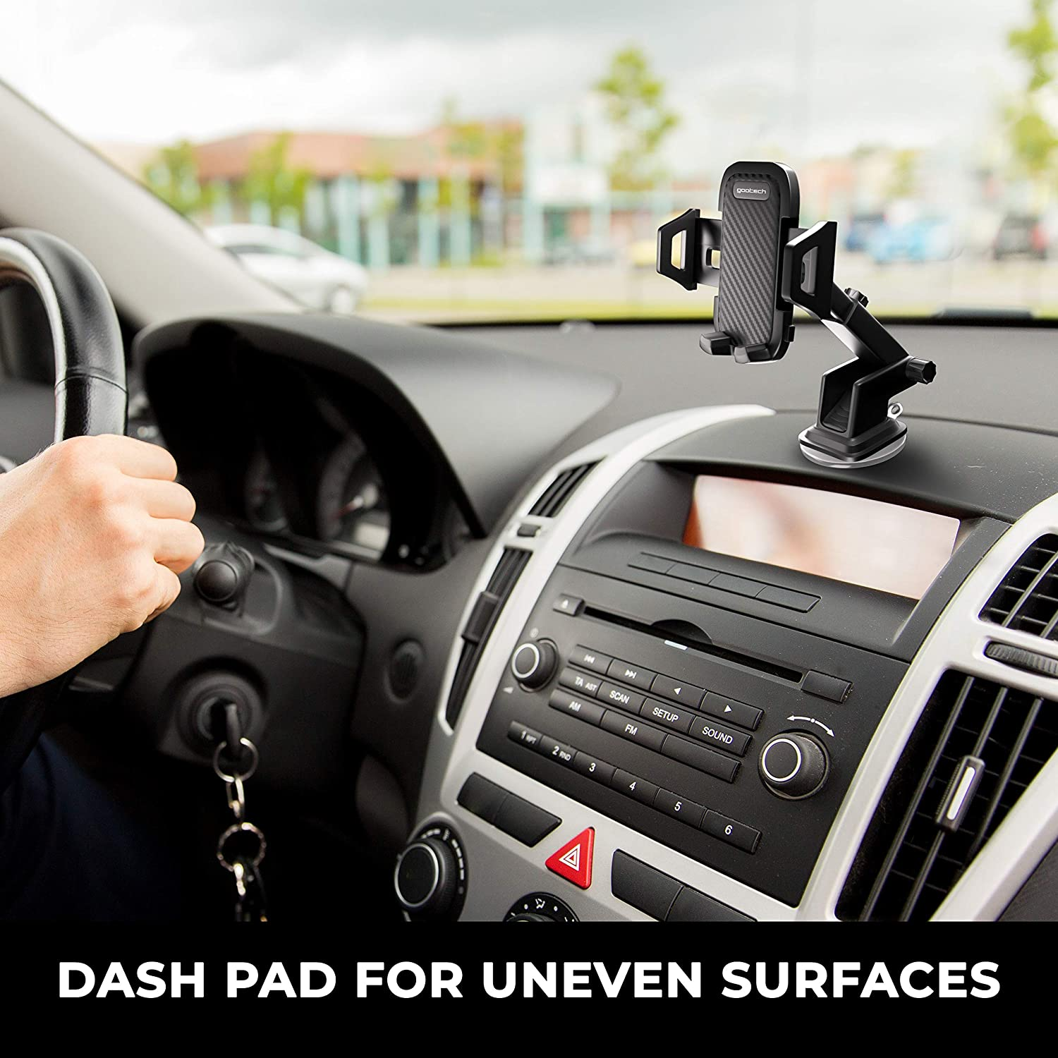 XR Carbon Panel S8+ 8+ 7+ S9 Universal Car Phone Mount S9+ Galaxy S10 S10+ Dashboard /& Windshield Car Phone Holder 6+ 7 Xs Max S8 Compatible with iPhone Xs 8 6 X