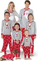 PajamaGram ST. Nick Santa Print Cotton Jersey Matching Family Pajamas, Red
