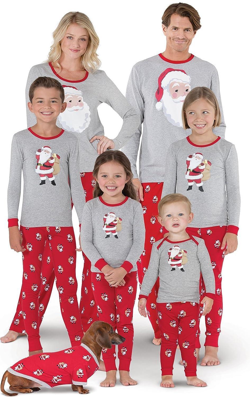 PajamaGram Christmas Pajamas for Family St Nick Christmas PJs Red