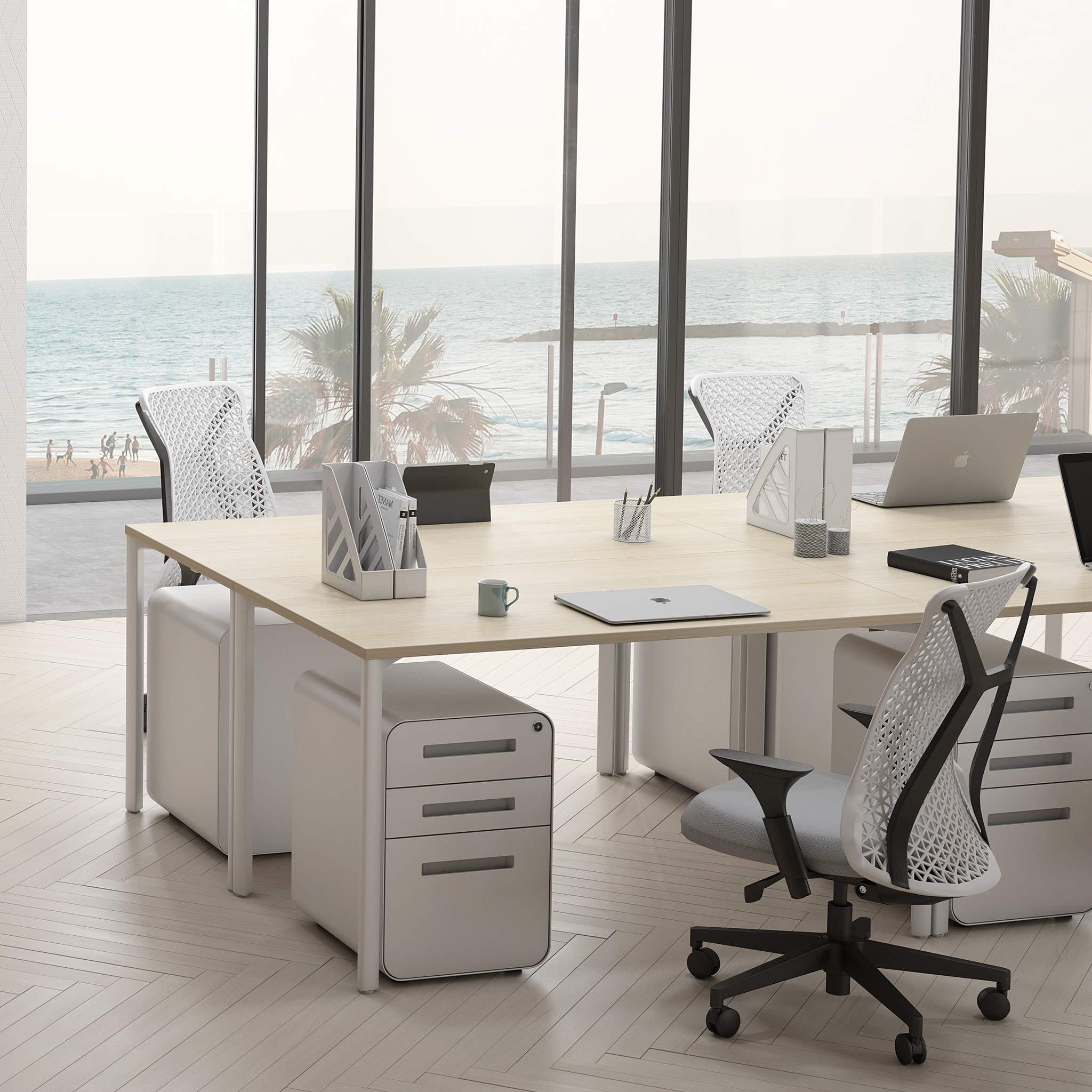 Stockpile 3-Drawer File Cabinet (White)