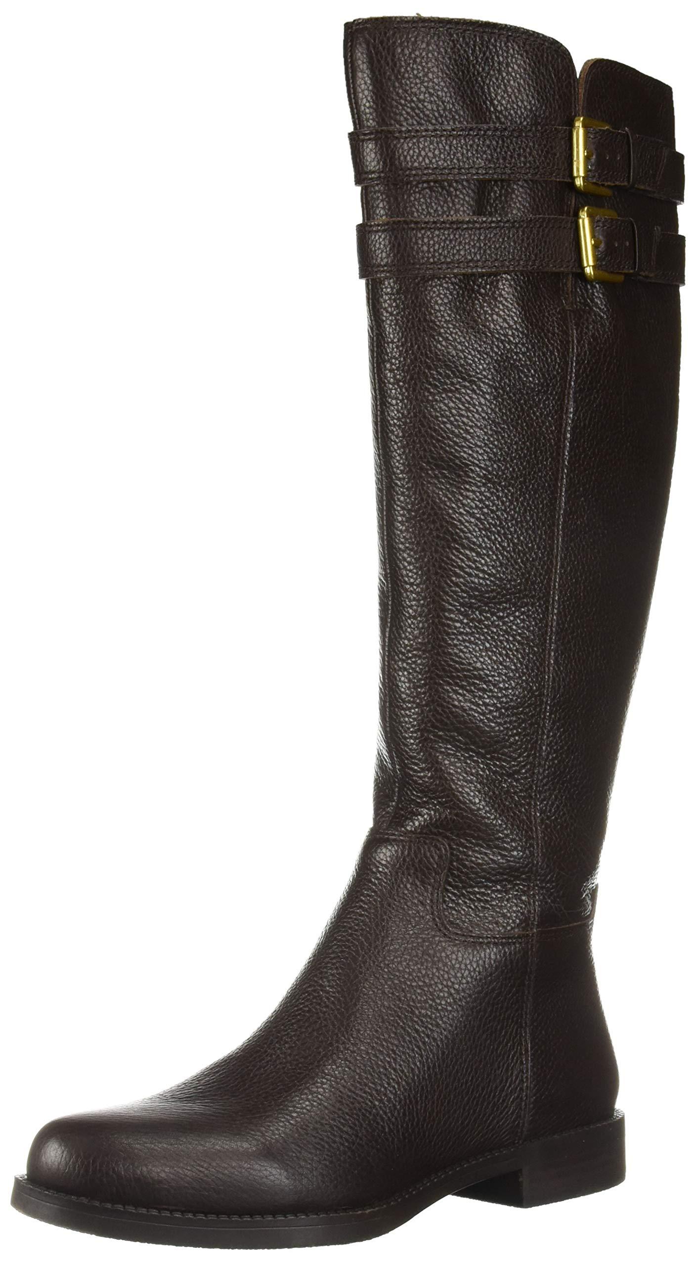 Franco Sarto Women's Christoff Equestrian Boot , Hickory, 5    M(Wide Calf)