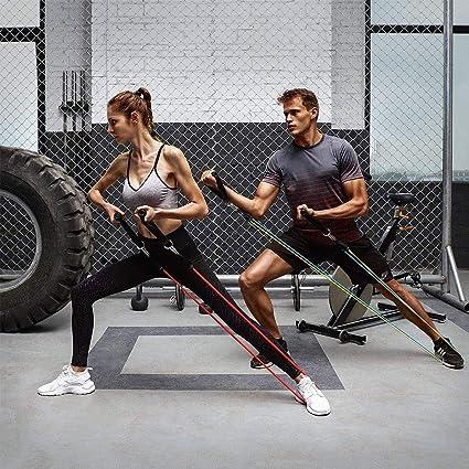 Bnoeo Bandas Elasticas Fitness Musculacion - Apilables hasta Las 100lbs. Tubos de Entrenamiento para Deportes Interiores o Exteriores, Fitness,Fuerza ...