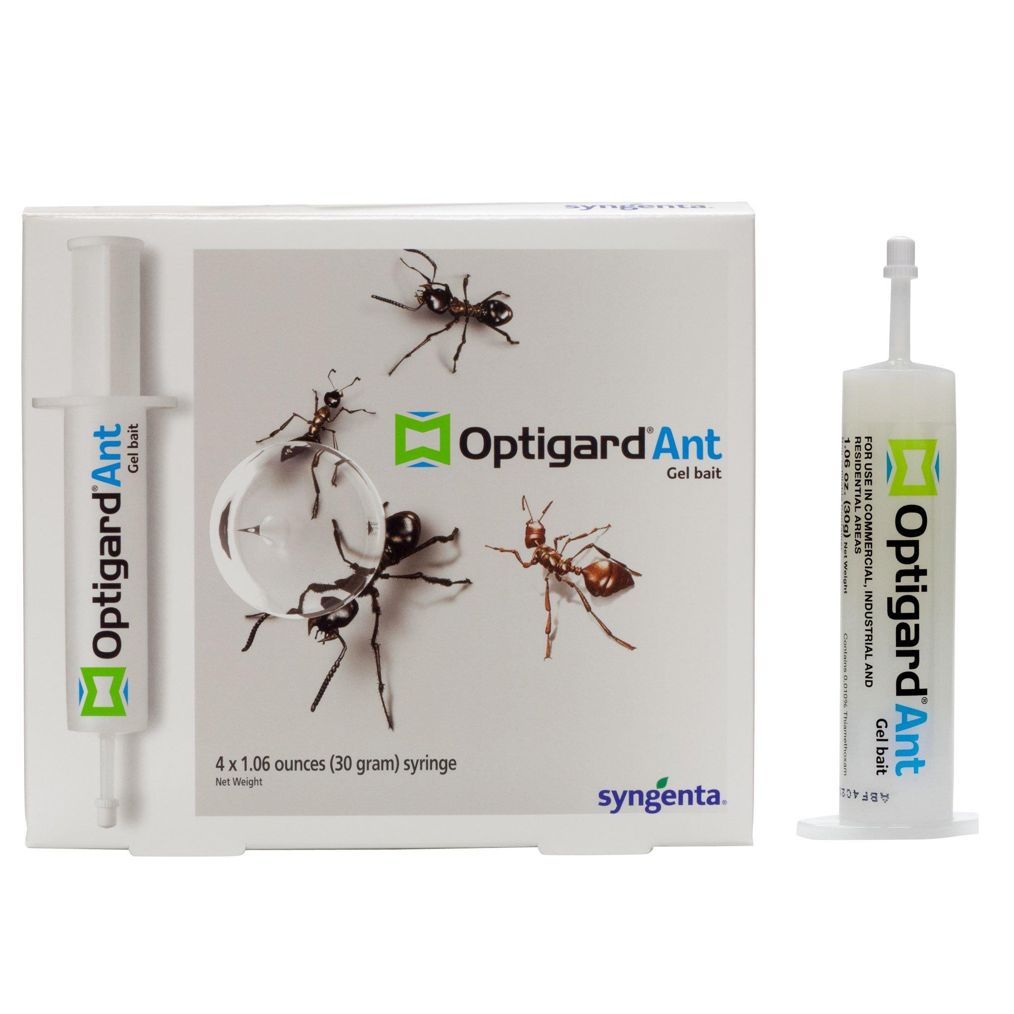 Optigard Ant Bait Gel Syngenta - TRTD11568 Box - 4 Tubes w/Plunger - 30g each tube