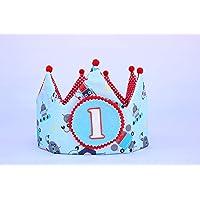 Corona cumpleaños 1 año unisex ideal para decoración de baby shower niño