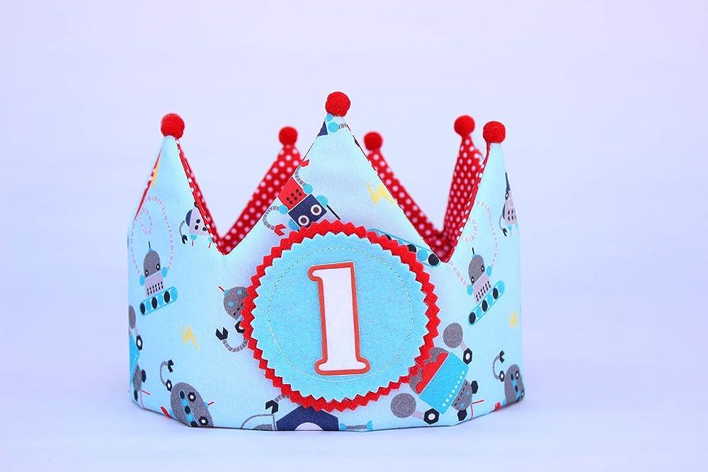 Corona cumpleaños 1 año unisex ideal para decoración de baby ...