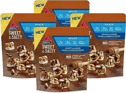 Atkins Sweet & Salty Honey Almond Vanilla Crunch Bites (Pack of 4)
