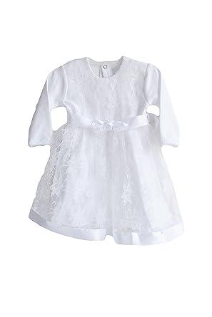 d7282aa0c864 Three Snails Baptism Dresses For Baby Girls Christening White Dress Newborn  Toddler (3-6