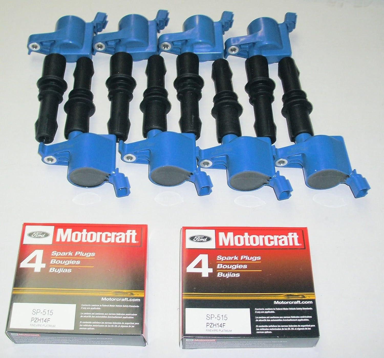 Amazon.com: 8 X Ignition Coils Heavy Duty 511 Blue +8 Motorcraft Plugs Sp515: Automotive
