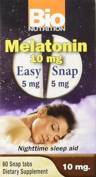 Bio Nutrition Melatonin 10 Mg Tablets, 60 Count
