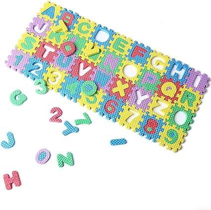 Mini 36pcs Puzzle Kid Toy Alphabet 0-9 A-Z Letters Numeral Foam Mat