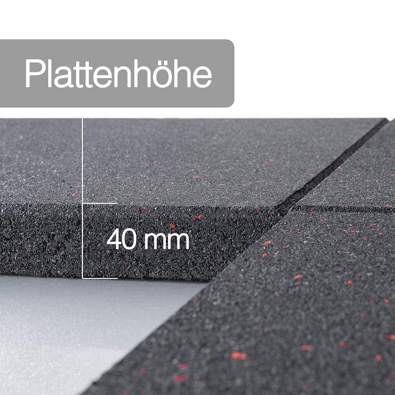 40 mm St/ärke Fallschutzmatten Advantage Indoor /& Outdoor extra rutschhemmender Bodenbelag modernes Sprenkel-Design 1 St/ück, 50x50 cm, Schwarz-Blau