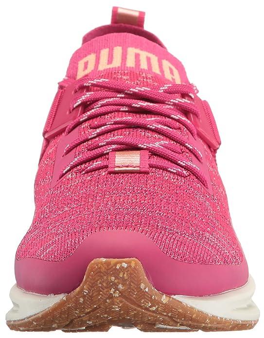 PUMA Women's Ignite Evoknit Lo vr Wn Sneaker, Love Potion
