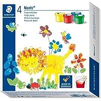 Staedtler 8814 D Noris Clup Parmak Boya 4 Renk,100 ml - 130 Gr (Sarı, Mavi, Yeşil, Kırmızı) 4 lü set