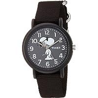 Timex Weekender Joe Cool - Reloj analógico de cuarzo y nailon, color negro, modelo TW2T657009J (34 mm)