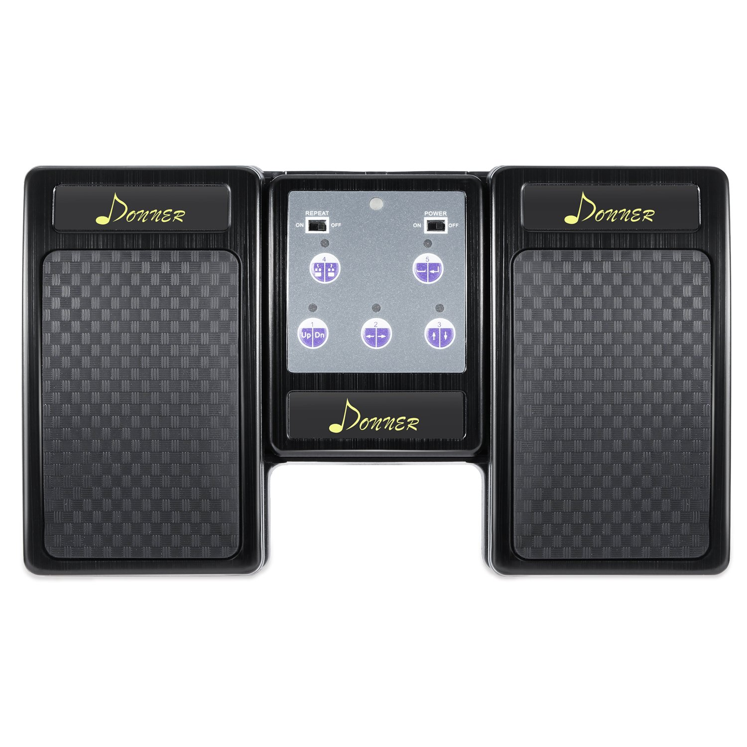 Donner Bluetooth Page Turner Pedal for Tablets Ipad Rechargeable,Black