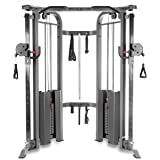 XMark Functional Trainer Cable Machine with Dual 200 lb Weight Stacks, 19 Adjustments, and Accessory Package XM-7626…
