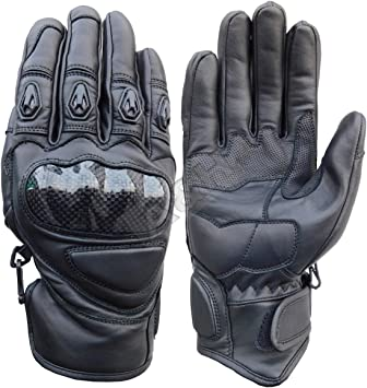 X-Large A/&H Apparel Mens Motorcycle Leather Gloves Genuine Cowhide Heavy Duty Protective Glove Street Racing And Off Road Glove