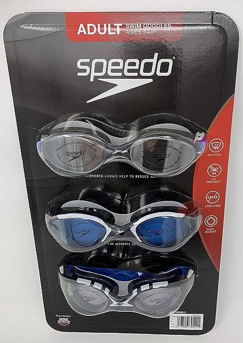 f416dd652288 Amazon.com   Speedo 3 Pack Adult Swimming Goggles 2019 Edition ...