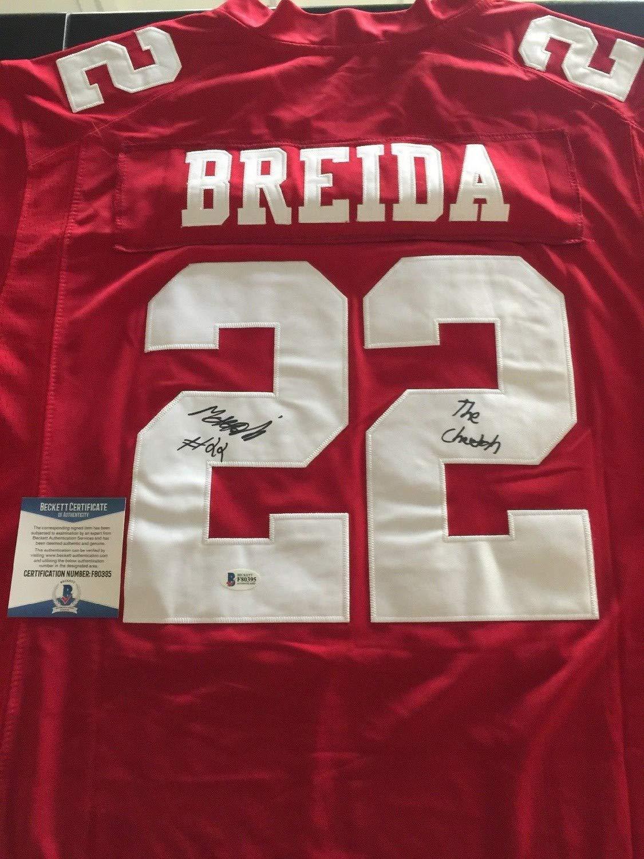 super popular cea29 74889 Matt Breida the Cheetah Autographed Signed San Francisco ...