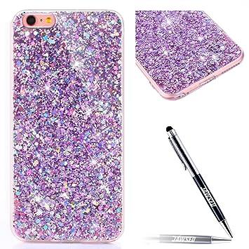 Jawseu Iphone 7 Coque Transparent Glitter Iphone 8 Etui En Silicone