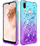 Dzxouui for Samsung A10S Case,Galaxy M01S Case,Girls Women TPU Clear Cover Protective Moving Quicksand Glitter Bling…