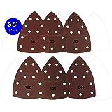 60pieza Goodway Velcro hojas de lija 105x 152mm 10x cada grano 40/60/80/120/180/240para multilijadora