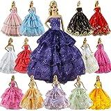 ZITA ELEMENT 6 Pièces Robe de Soirée Robe de Mariée Vêtements pour Poupée Barbie Noël Cadeau d'Anniversaire - Style aléatoire