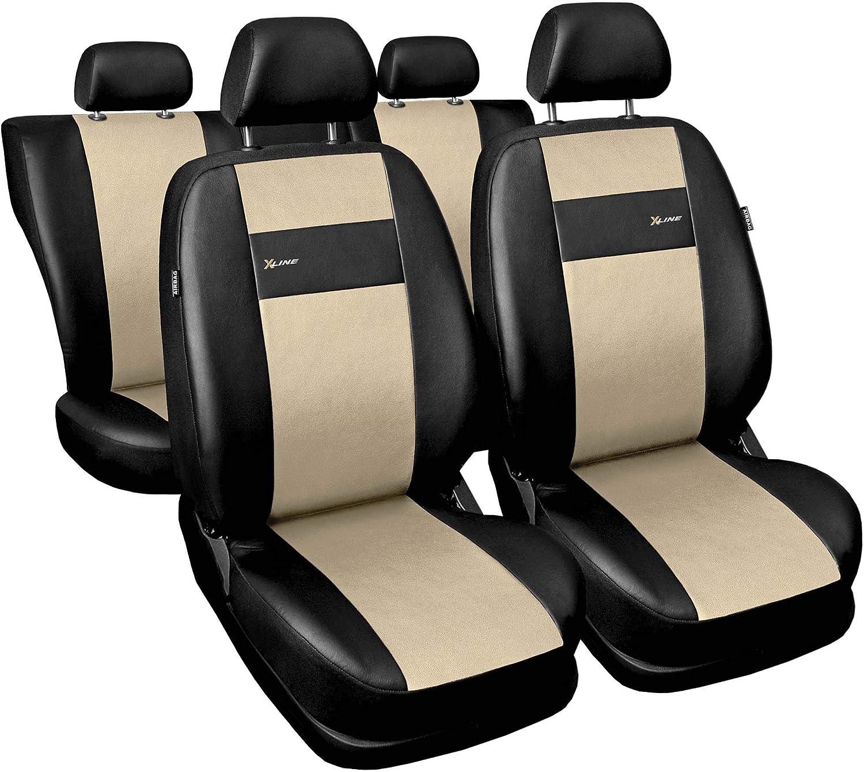 1+1 Autositze vorne und 1 Sitzbank hinten teilbar 2 Rei/ßverschl/üsse 3er Set Saferide Autositzbez/üge PKW universal f/ür Vordersitze und R/ückbank Auto Sitzbez/üge Polyester Grau f/ür Airbag geeignet