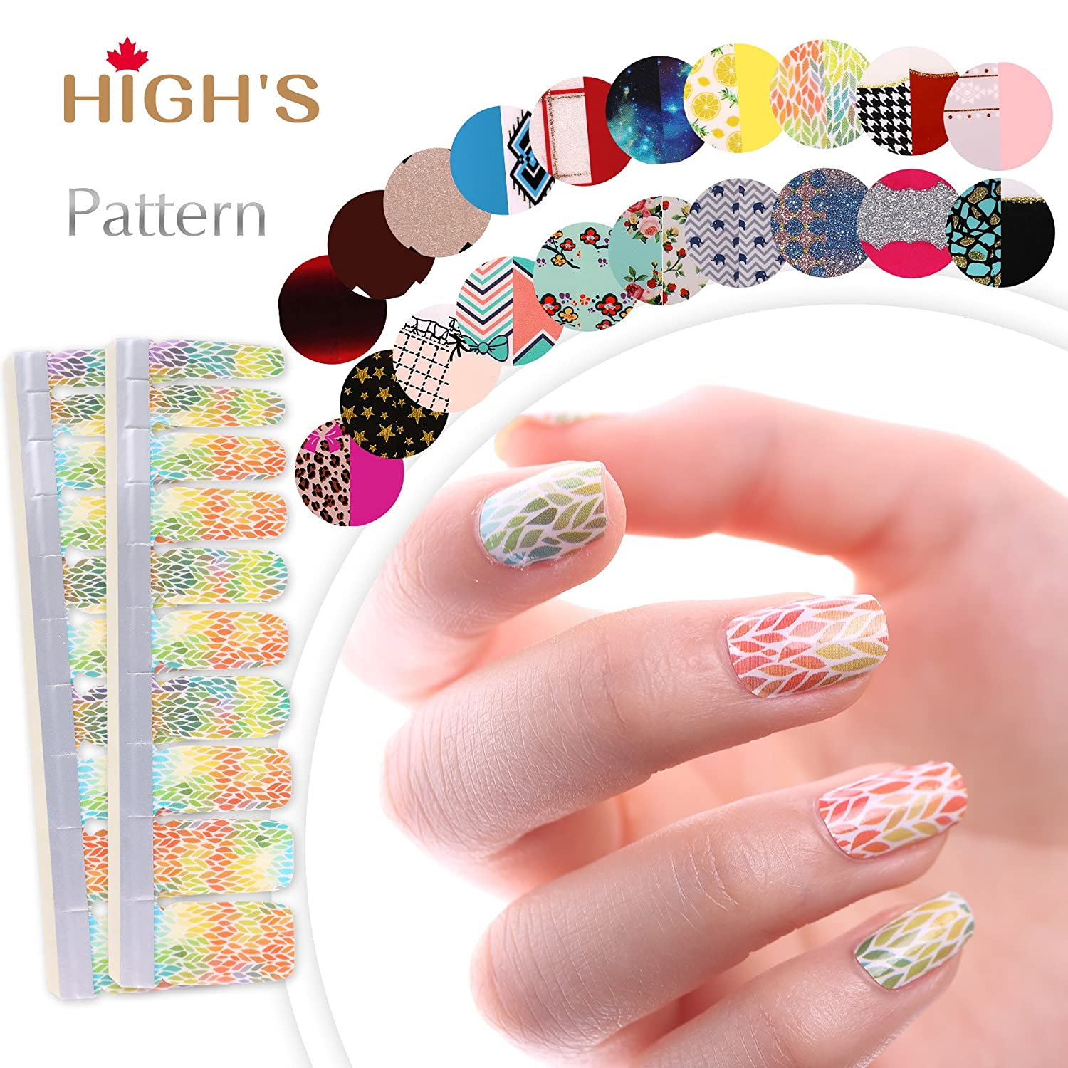HIGH'S Pattern Series 2016 Summer Collection Manicure Nail Polish Strips Nail Wraps, F-fantastic HIGH' S