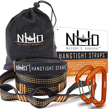 hangtight hammock straps with carabiners   quick  u0026 easy setup for all hammocks  extra strong amazon    hangtight hammock straps with carabiners   quick      rh   amazon