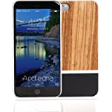 iPhone 6 / 6s plus case, wood and metal - Unique case for all Apple iPhone 6 / 6s plus phones. Perfect fit and slim iPhone case - Case offers protection and premium looks and vibrant trendy colors