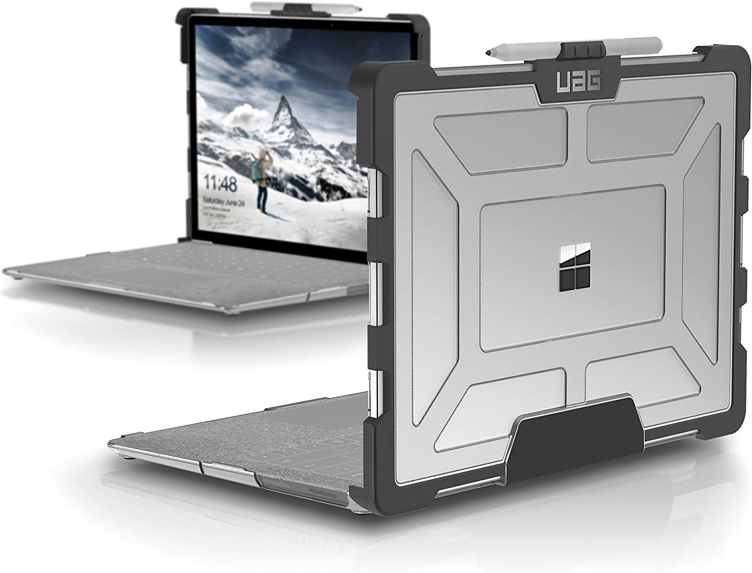 URBAN ARMOR GEAR UAG Microsoft Surface Laptop 2/Surface Laptop [13-inch Screen] Feather-Light Rugged [Ice] Military Drop Tested Laptop Case
