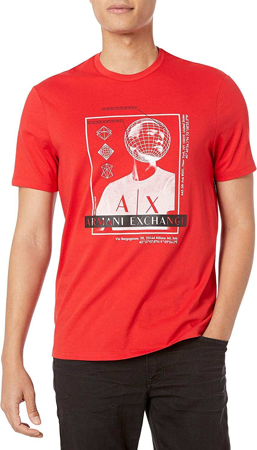 AX Armani Exchange Men's Graphic Jersey Challenge Max 41% OFF the lowest price T-Shirt Cotton