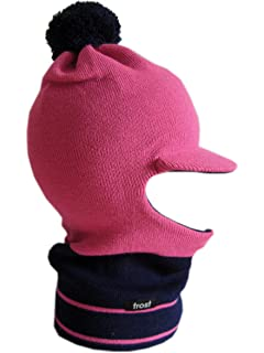 b8c7198e264 Amazon.com  Frost Hats Winter Boy s BLUE Hat Balaclava Striped Ski ...