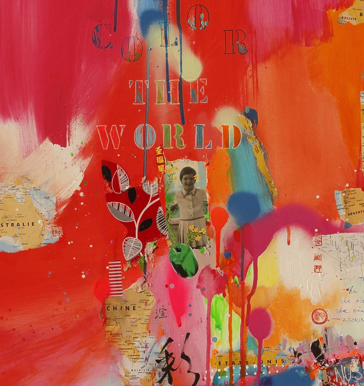 Reproducción de arte - Color the world - sobre papel de acuarela ...