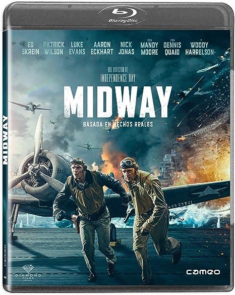 Midway [Blu-ray]: Amazon.es: Ed Skrein, Woody Harrelson, Patrick Wilson, Luke Evans, Dennis Quaid, Roland Emmerich, Ed Skrein, Woody Harrelson: Cine y Series TV
