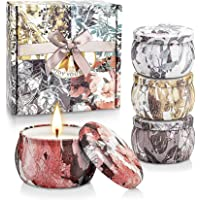 YINUO LIGHT Scented Candles Gift Set, 100% Soy Wax Portable Travel Tin Candles, Perfect Women Gifts for Stress Relief…