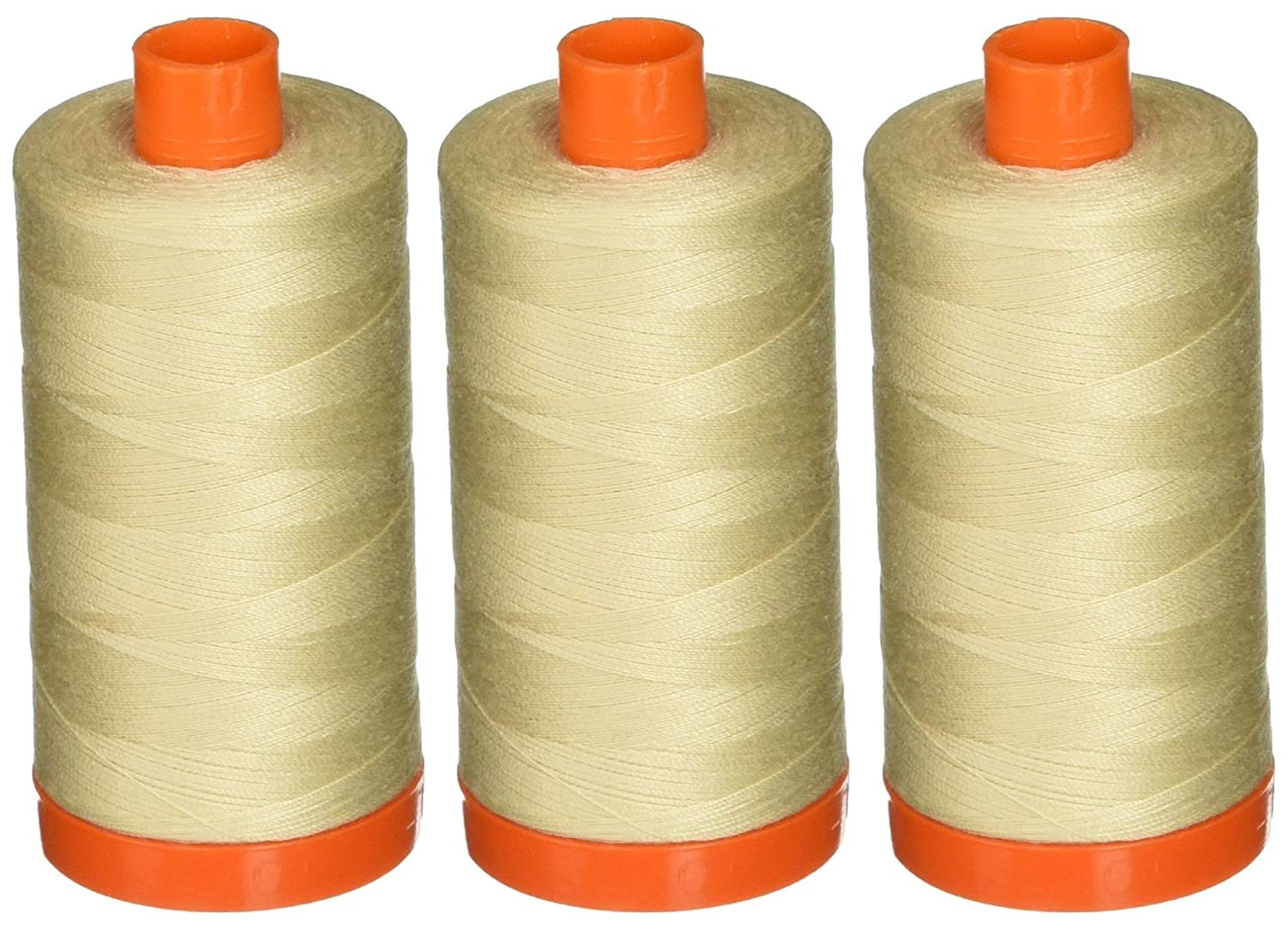 Aurifil A1050-2310 Solid 50 Weight 1422 yd Cotton Thread, Light Beige