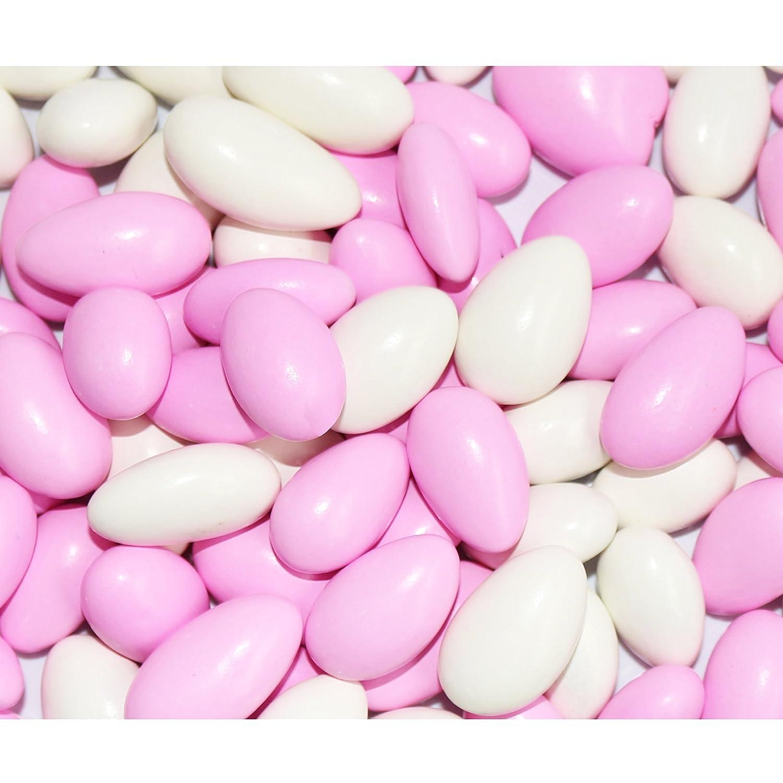 Amazon.com : FirstChoiceCandy Pastel Pink & White Jordan Almonds 1 ...