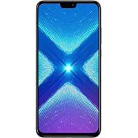 "Huawei Honor 8X (64GB + 4GB RAM) 6.5"" HD 4G LTE GSM Factory Unlocked Smartphone - International Version No Warranty JSN-L23 (Black)"