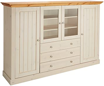 Steens Group 3170390264001f Monaco Buffet Haut Pin Massif Blanc