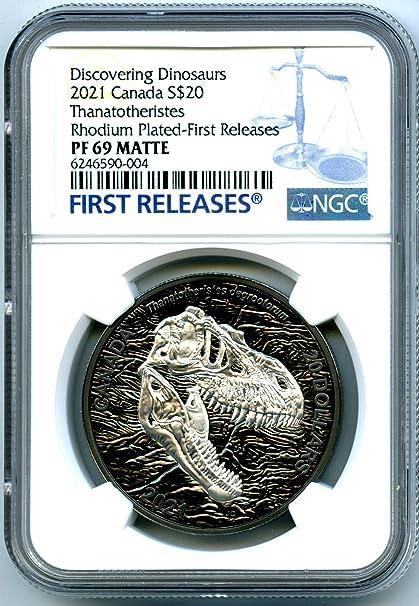 2021 CA Canada Dinosaur BLACK RHODIUM REAPER OF DEATH 1 OZ ...