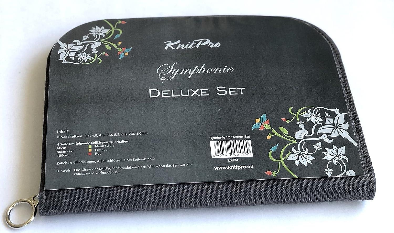 Inhalt Wie 20613 KnitPro Symphonie Holz Deluxe-Set im Praktischen Stoffetui Art 20694