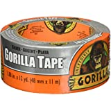 "Gorilla Tape, Silver Duct Tape, 1.88"" x 12 yd, Silver, (Pack of 1)"